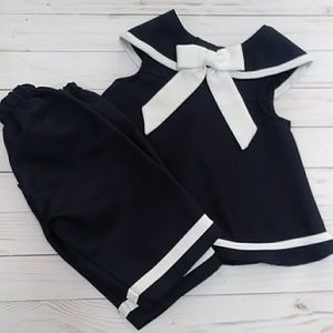 Vintage Sailor Girls outfit nautical 18M